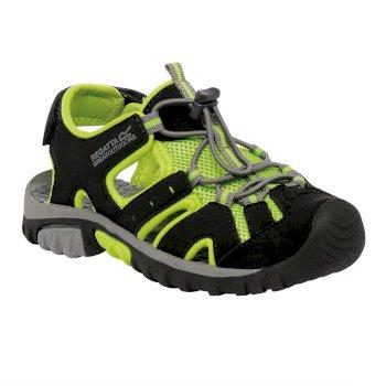 Kids' Deckside Sandal Black Lime