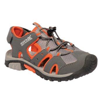 Kids Deckside Lightweight Water Friendly Sandals Granite Magma