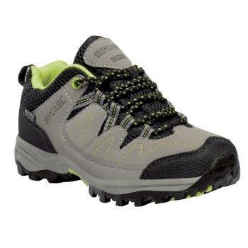 Kids Holcombe Low Walking Shoe Rock Grey Lime Zest