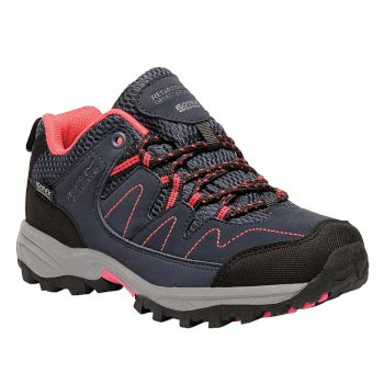 Kids Holcombe Low Walking Shoes Navy Bright Blush