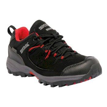 Kids Holcombe Low Walking Shoes Black Pepper