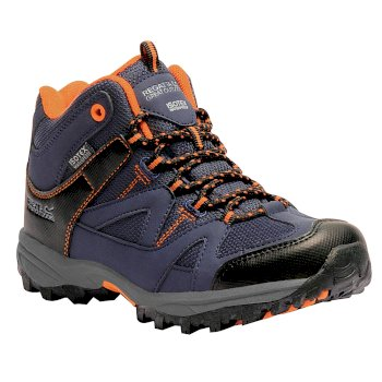 Kids Gatlin Mid Walking Boots Navy Blazer Persimmon