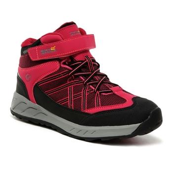Kids' Samaris V Waterproof Mid Walking Boots Dark Cerise Neon Pink