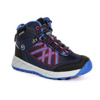 Kids' Samaris Mid Walking Boots Navy Pepper