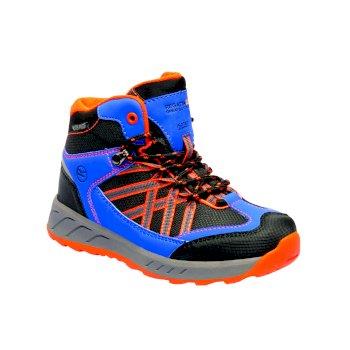 Kids Samaris Mid Boots Oxford Blue Orange Fizz