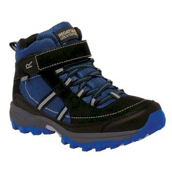 Kids Trailspace II Mid Walking Boots Surfspray Blue Black