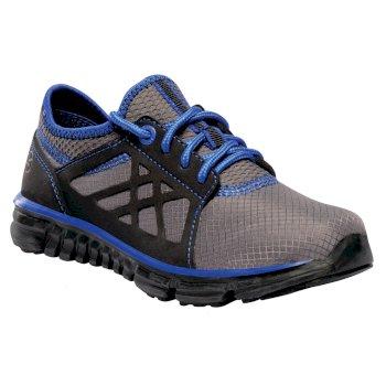 Kids Marine Sport Walking Shoes Black Skydiver Blue