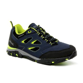 Kids' Holcombe Low Walking Shoes Navy Blazer Lime Punch