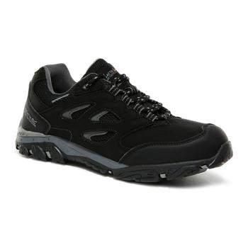 Kids' Holcombe Waterproof Low Walking Shoes Black Granite