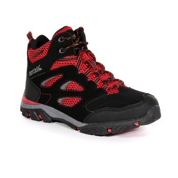 Kids' Holcombe Waterproof Mid Walking Boots Black Pepper