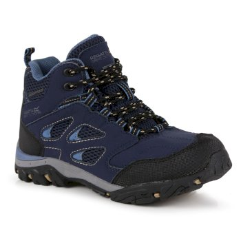 Kids' Holcombe Waterproof Mid Walking Boots Navy Captain's Blue