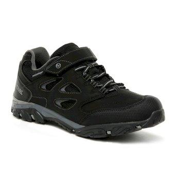 Kids' Holcombe V Waterproof Low Walking Shoes Black Granite