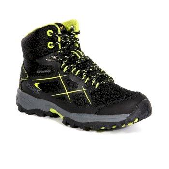 Kids' Kota Walking Boots Black Lime Punch