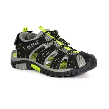 53be66318 Kids  Westshore Sandals Black Lime Green