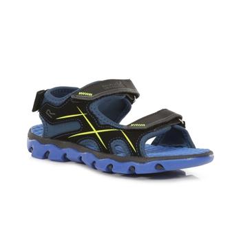 Kids' Kota Drift Sandals Nautical Blue Electric Lime