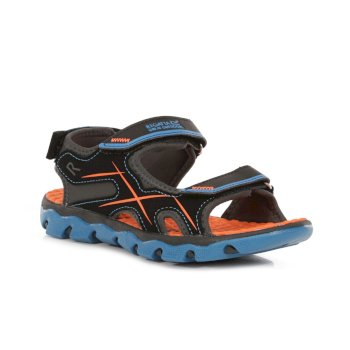 Kids' Kota Drift Sandals Petrol Blue Fiery Coral