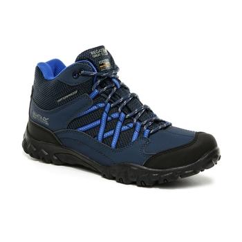 Kids' Edgepoint Waterproof Mid Walking Boots Deep Space Imperial Blue