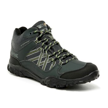 Kids' Edgepoint Waterproof Mid Walking Boots Briar Electric Lime