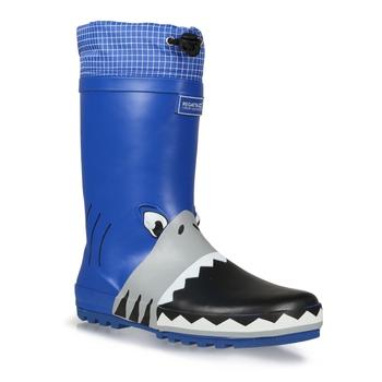 Kids' Mudplay Animal Wellies Shark Nautical Blue