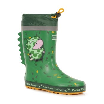 Peppa Pig Puddle Wellies Dino Green