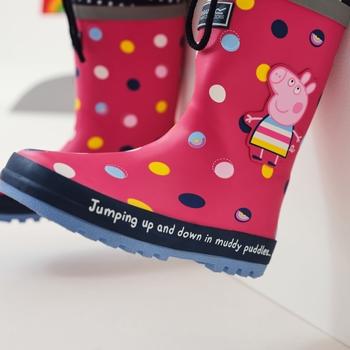 Peppa Pig Splash Wellies Bright Blush Polka
