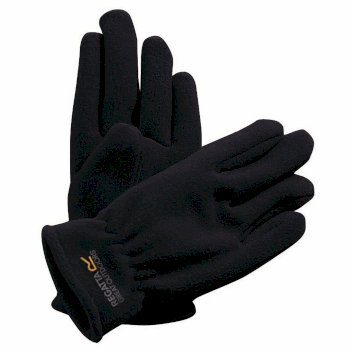 Kids Taz II Basic Fleece Gloves Black