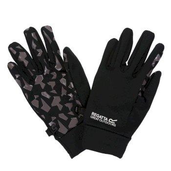 Kids' Grippy Gloves Black Magnet Grey
