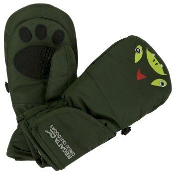Kids Spatter Mitts III Cypress Green