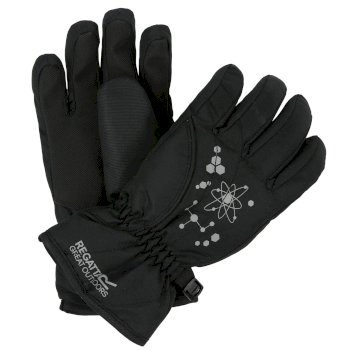 Kids Arlie II Reflective Waterproof Gloves Black
