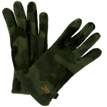 Fallon Printed Camo Gloves Cypress Green Camo