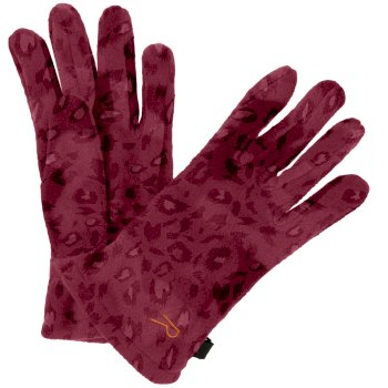Fallon Printed Camo Gloves Rumba Red Animal