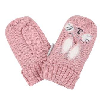 Kids' Animally III Mittens Powder Pink Rabbit