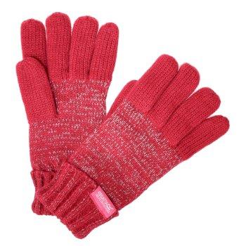 Kids' Luminosity Knitted Gloves Dark Cerise