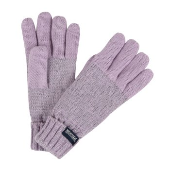 Kids' Luminosity Knitted Gloves Lilac Frost