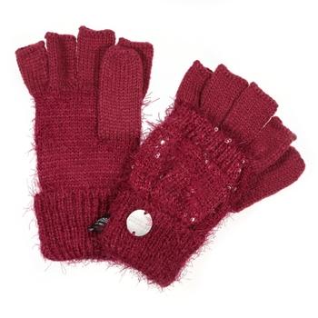 Kids' Heddie Lux Knit Gloves Raspberry Radience