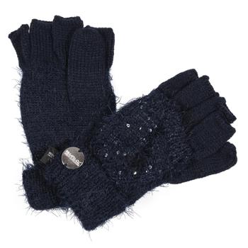 Kids' Heddie Lux Knit Gloves Navy