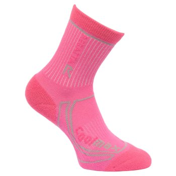 Kids 2 Season Coolmax Trek & Trail Socks Raspberry Rose Jem