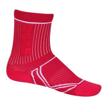 Kids 2 Season Coolmax Trek & Trail Socks Cherry Pink White