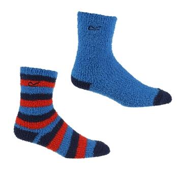 Kids' 2 Pair Cosy Socks Hawaiian Blue