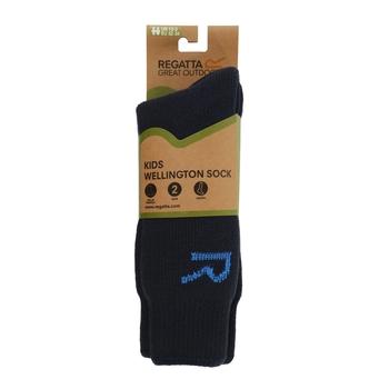 Kids' 2 Pair Wellington Socks Navy