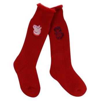 Kids' 2 Pair Wellington Socks Red Peppa