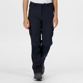 Kids Winter Stretch Softshell Trousers Navy