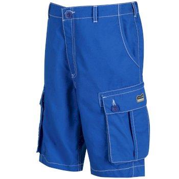 Kids Shorefire Cool Weave Cotton Canvas Shorts Skydiver Blue