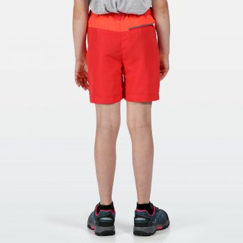 Kids' Sorcer Mountain Shorts Coral Blush Fiery Coral