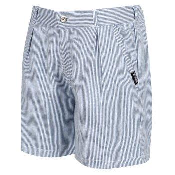 Kids' Damita Casual Shorts Blue Ticking Stripe
