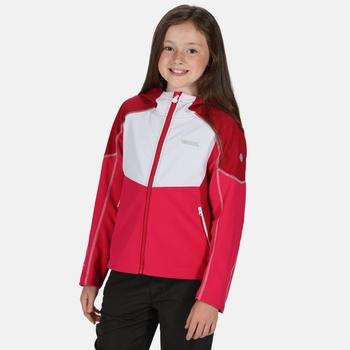 Kids' Acidity IV Reflective Hooded Softshell Walking Jacket Duchess White