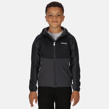 Kids' Bracknell II Hooded Softshell Walking Jacket Seal Grey