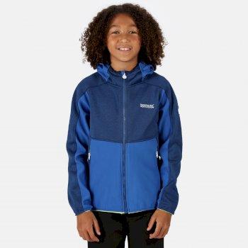 Kids' Bracknell II Hooded Softshell Walking Jacket Nautical Blue