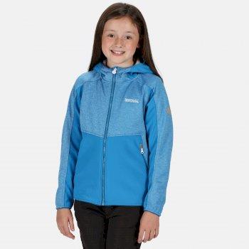 Kids' Bracknell II Hooded Softshell Walking Jacket Blue Aster