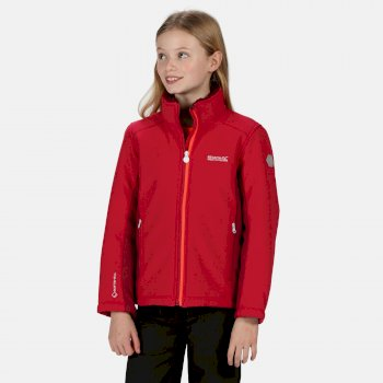 Kids' Rivendale II Full Zip Softshell Walking Jacket Dark Cerise Beetroot